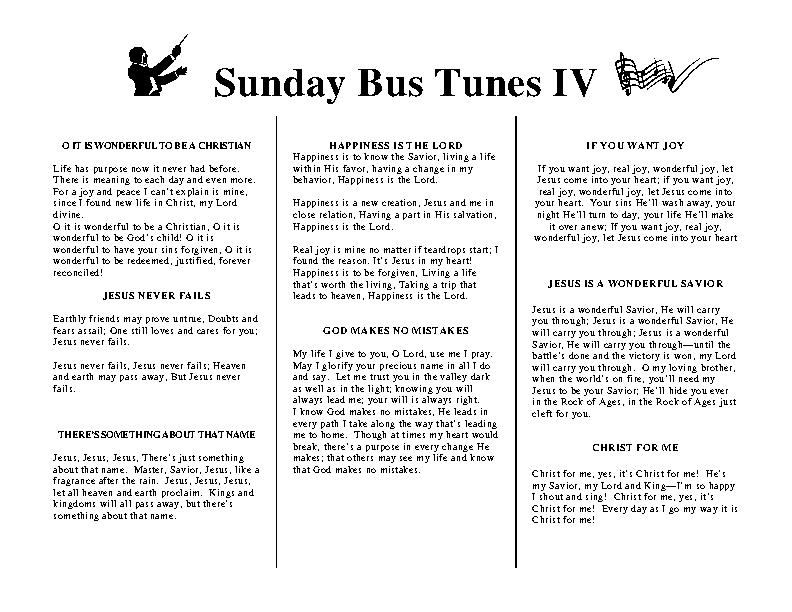 Sunday Bus Tunes 4
