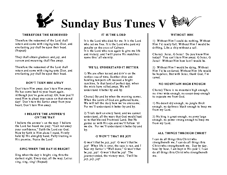 Sunday Bus Tunes 5