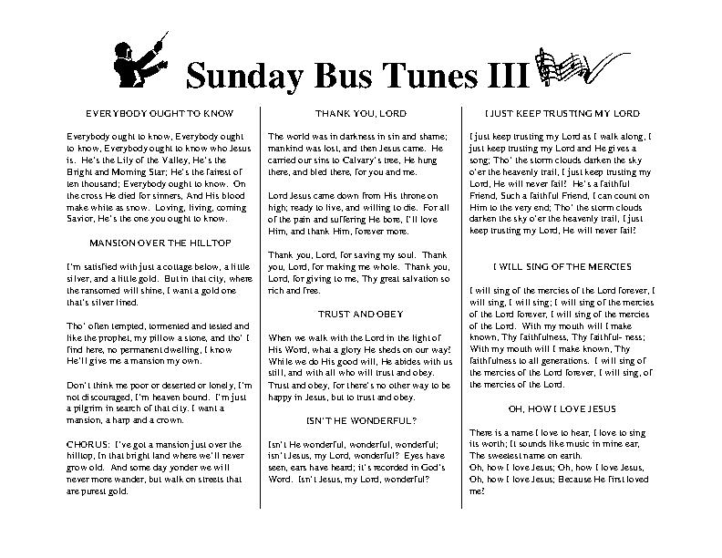 Sunday Bus Tunes 3